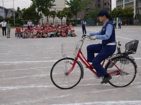 神田小20170610自転車講習会3