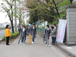 田島中挨拶運動2
