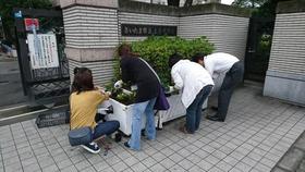 土合中20170906花植え活動2