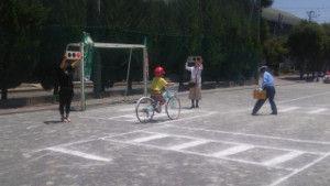 大久保小自転車講習5