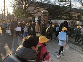 田島小20190111あいさつ運動2