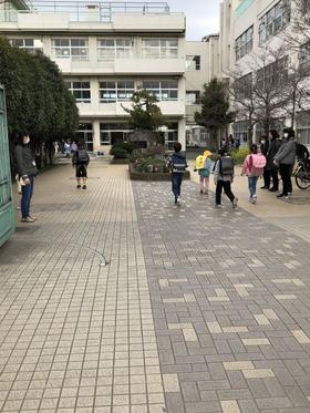 大久保小20180323あいさつ運動3