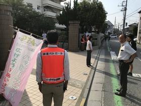 上大久保中20170912あいさつ運動1