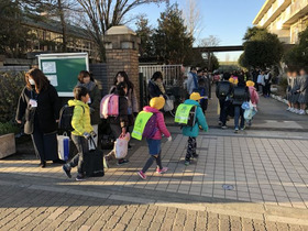 田島小20190111あいさつ運動4