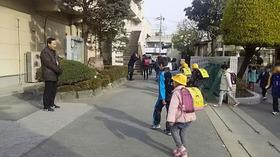 土合小20170324あいさつ運動4