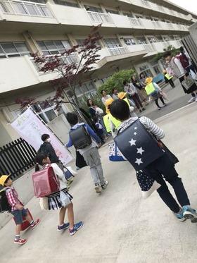 神田小20180423あいさつ運動2