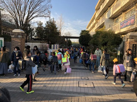 田島小20190111あいさつ運動1