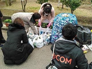 神田小アルミ缶回収3