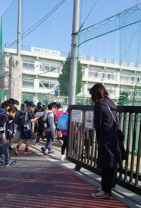 土合小20180326あいさつ運動3