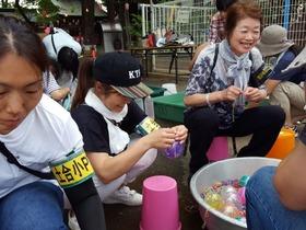 土合小20180823西堀氷川祭り3