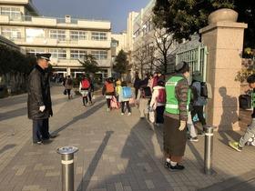 大久保小20190325あいさつ運動3学期2