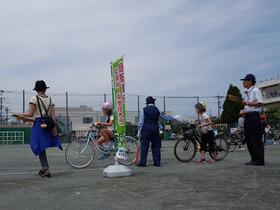 土合小20180622自転車講習3