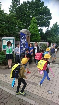 田島小20170829あいさつ運動4