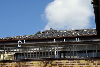 ぐしの落ちた屋根