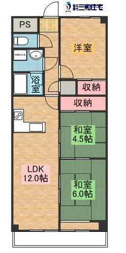 真島マンション氏家702(3LDK)