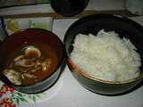 大番ご飯とアサリ汁