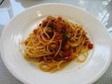 パステルチキンといろいろ野菜のトマトソース