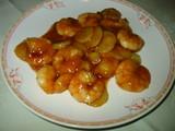 川菜海老とくわいの唐辛子炒め
