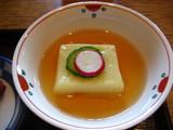 上天ぷら膳のたまご豆腐
