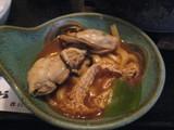牡蠣入り味噌煮込みの牡蠣