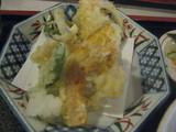 しなの亭定食の天ぷら