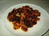 川菜鶏肉の角切り味噌味炒め