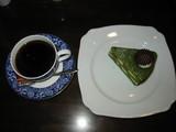 珈蔵コーヒーと抹茶ケーキ