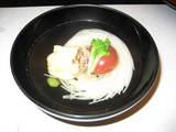 焼き鯛とニュー麺の吸い物