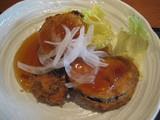 キッチン和野菜ひき肉のはさみ揚げ(甘酢あんかけ)