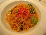 桜海老とチンゲン菜のスパ