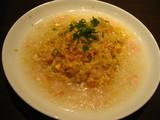 上海湯包小館のカニあんかけ炒飯