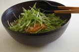 カキと水菜のサラダ
