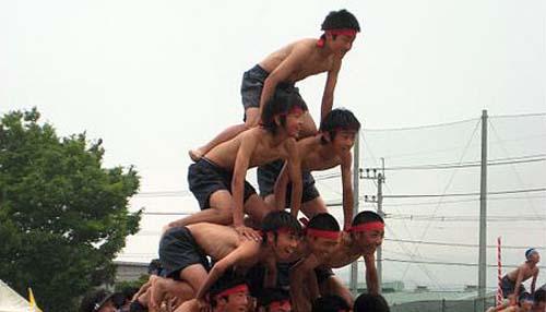 組体操ピラミッド