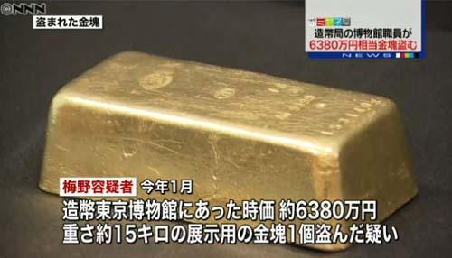 時価6380万円の金塊