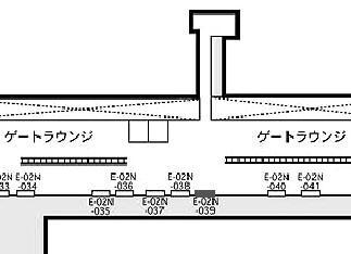羽田第二旅客ターミナル2階出発コンコース 拡大