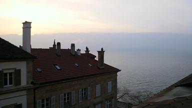 スイスの朝