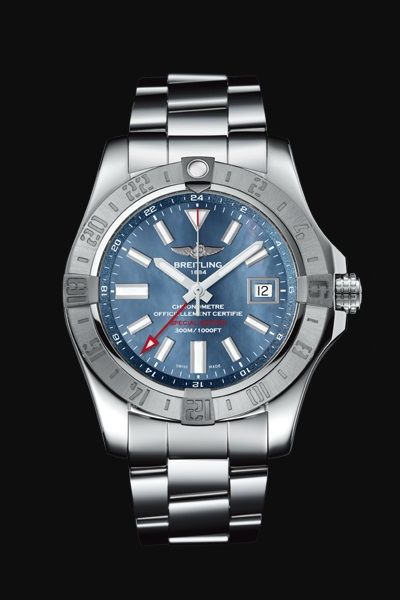 AVENGER II GMT BLUE MOTHER-OF-PEARL
