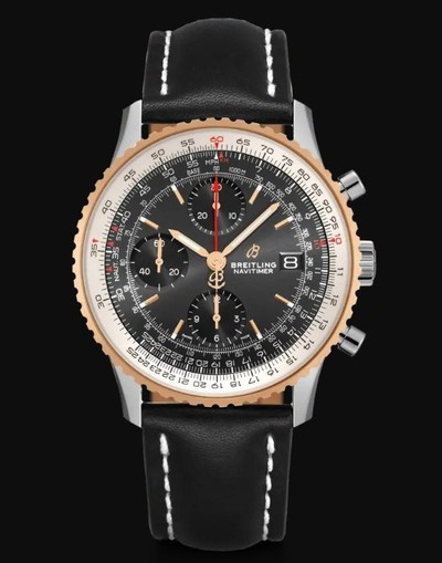 NAVITIMER CHRONOGRAPH 41 18K RED GOLD x BLACK (1)