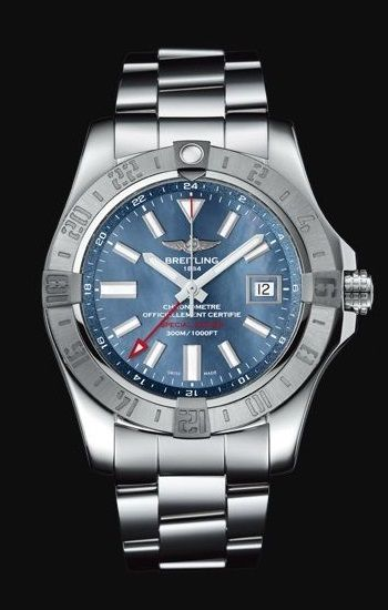 AVENGER II GMT BLUE MOTHER-OF-PEARL (1)