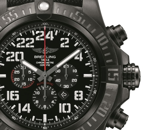 Breitling-Super-Avenger-Military-Watch-Dial-Closeup
