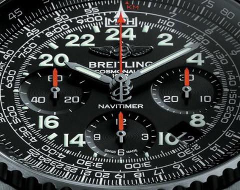 Breitling-Navitimer-Cosmonaute-Blacksteel-dial