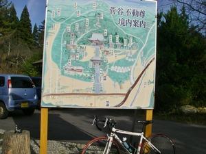 菅谷不動尊周辺の案内板