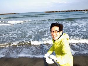 小針浜をジョギング