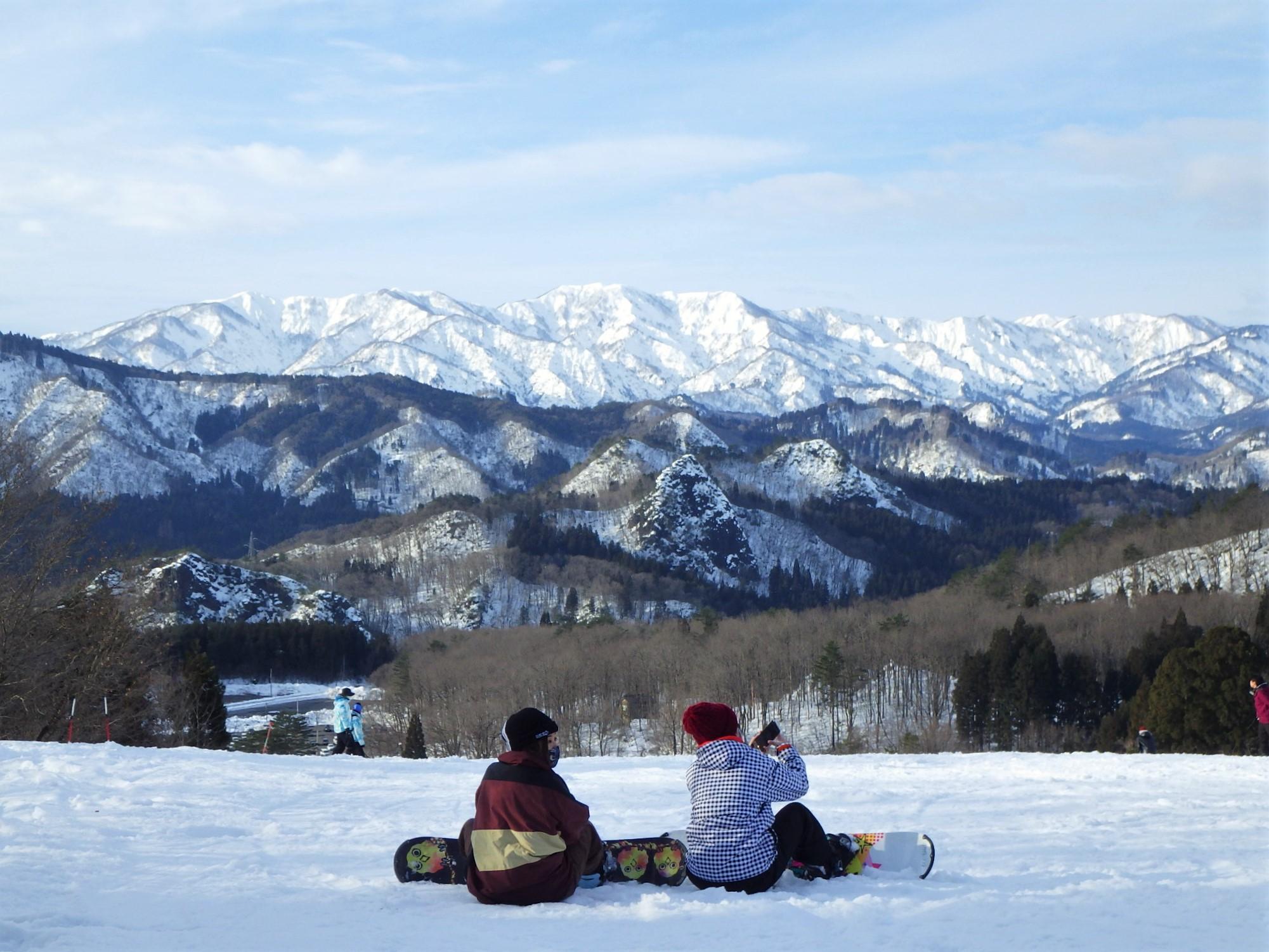 温泉 スキー 場 三川