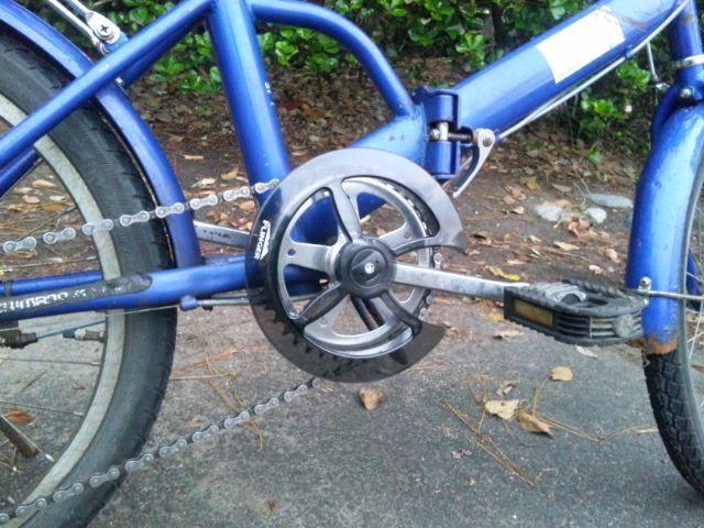 折りたたみ自転車にチェーン ...