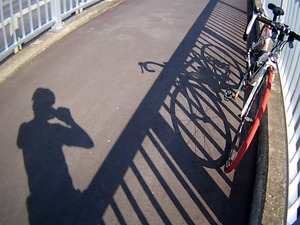 影を自撮り