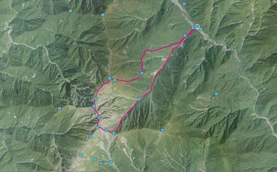 2017年10月 南アルプス 紅葉 北岳