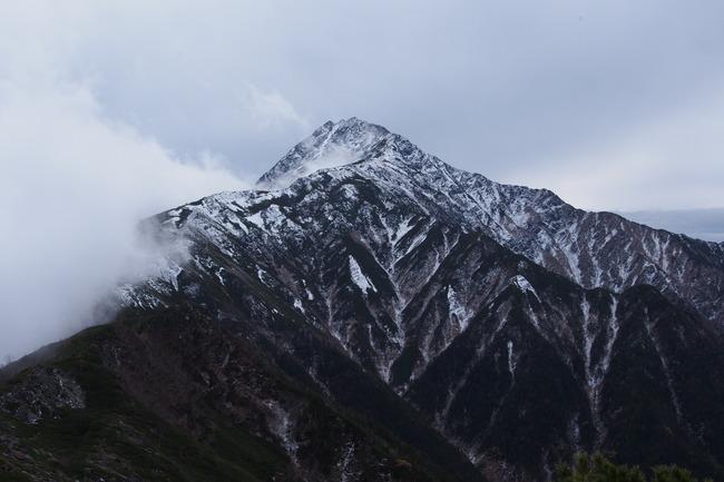 小太郎山 北岳 南アルプス 紅葉