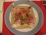 ガレット ハムとチーズと卵