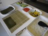 お寿司準備